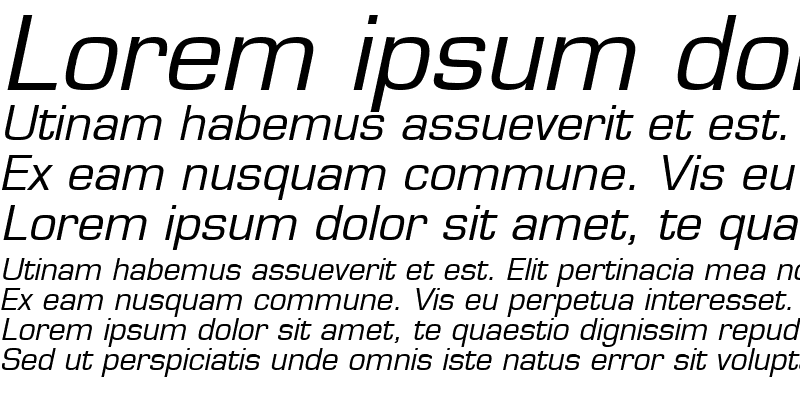 Sample of Eurasia Wide Italic