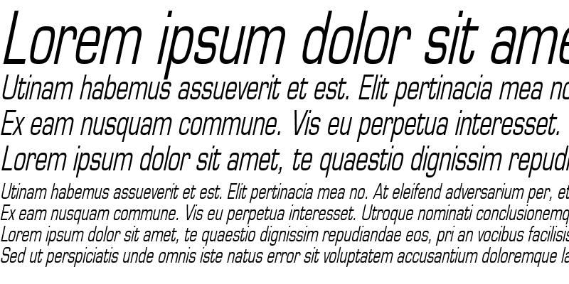 Sample of EurasiaThin Italic