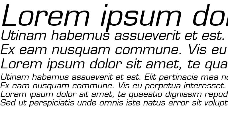 Sample of EurasiaWide Italic