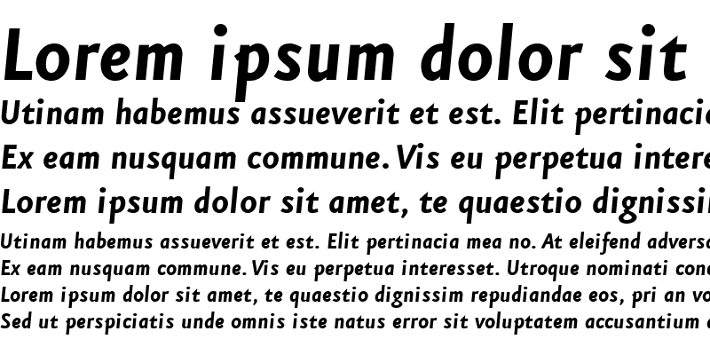 Sample of EurekaSans-BoldItalic