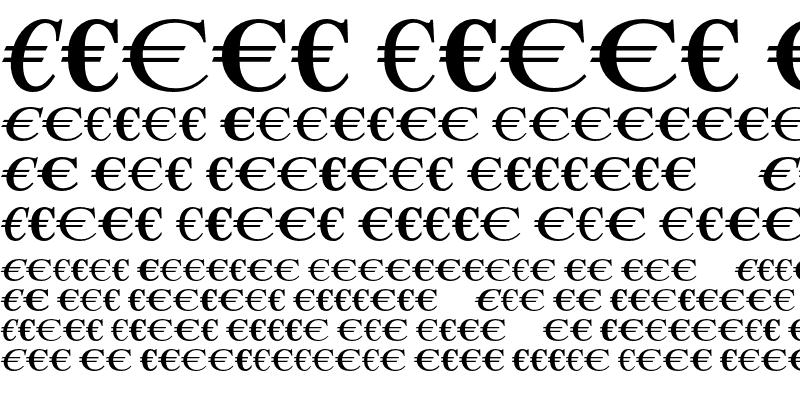 Sample of EuroSerifEF One Regular