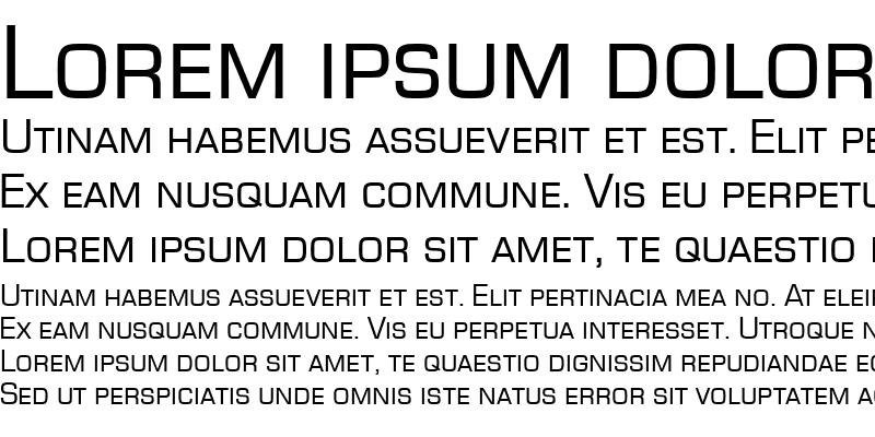 Sample of EurostileSCT Regular