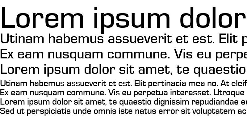 Sample of EurostileTMed Regular
