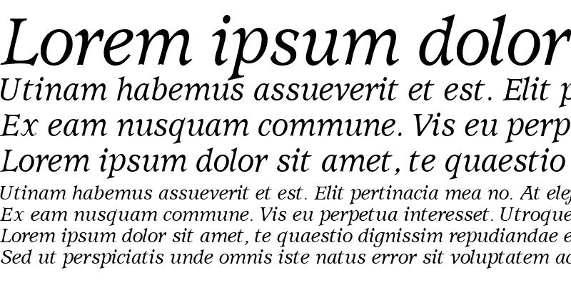 Sample of ExpositionMediumSSK Italic