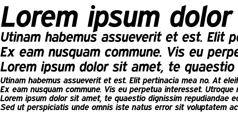 Sample of Expressway Bold Italic