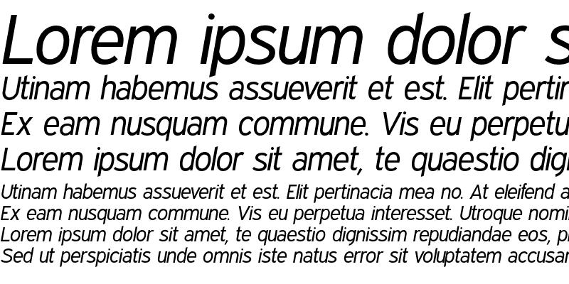 Sample of Expressway Book Italic