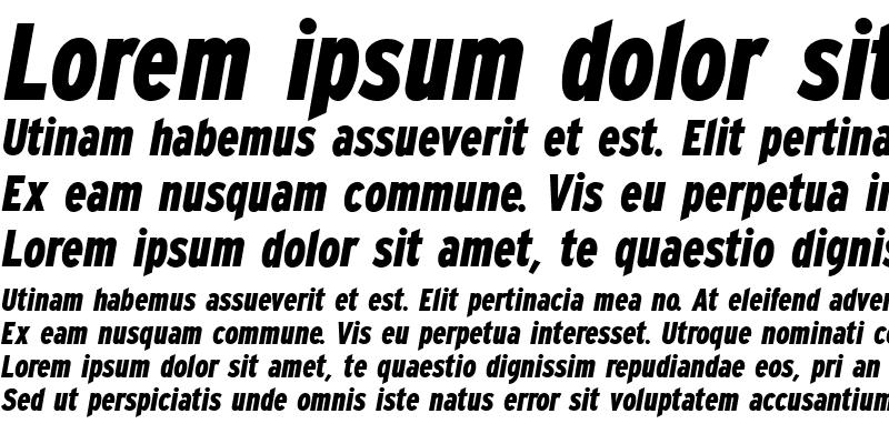 Sample of Expressway Condensed ExtraBold Italic