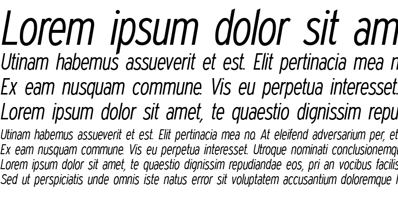 Sample of Expressway Condensed Light Italic