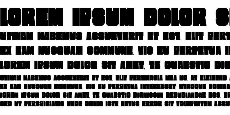 Sample of Extra Condensed