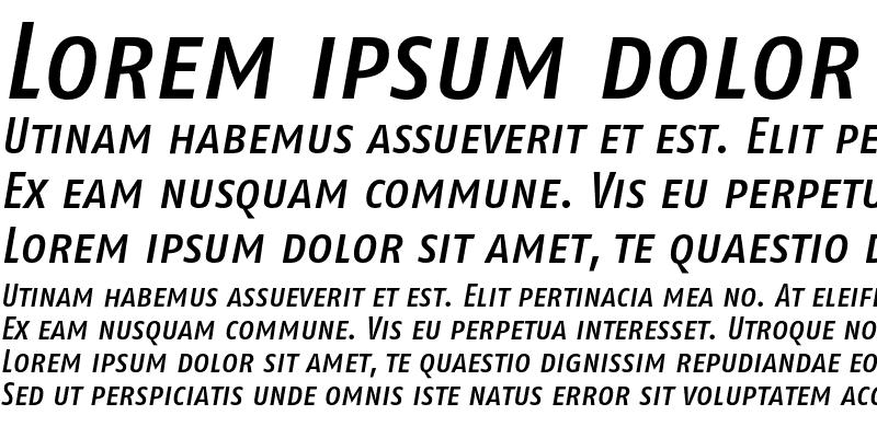 Sample of FagoCoTf Caps Medium Italic