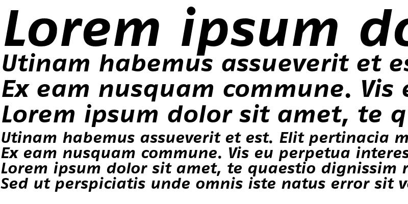 Sample of FagoExLf Bold Italic