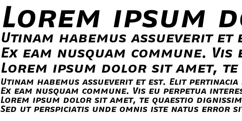Sample of FagoExLf Caps Bold Italic
