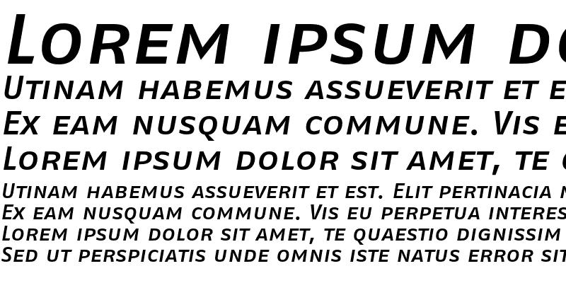 Sample of FagoExLf Caps Medium Italic