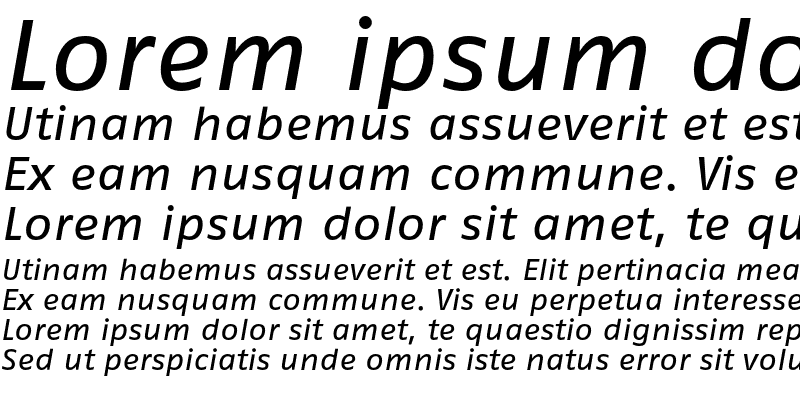 Sample of FagoExTf Italic