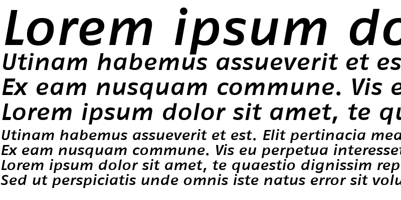 Sample of FagoExTf ItalicMedium