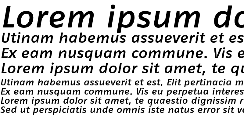 Sample of FagoExTf Medium Italic