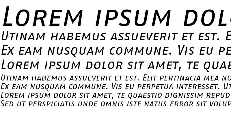 Sample of FagoNo Caps Italic