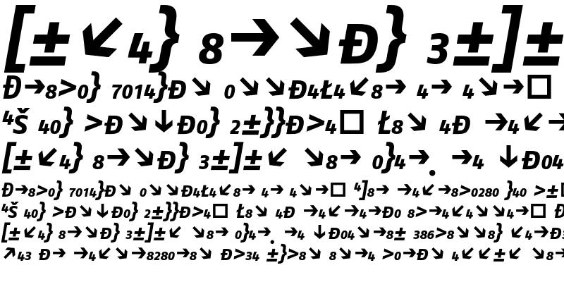 Sample of FagoNo CapsExp Bold Italic