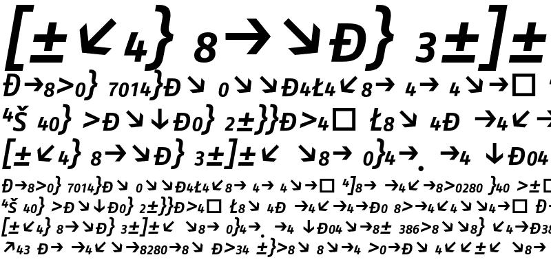 Sample of FagoNo CapsExp Medium Italic