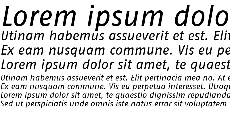 Sample of FagoNoLf Italic
