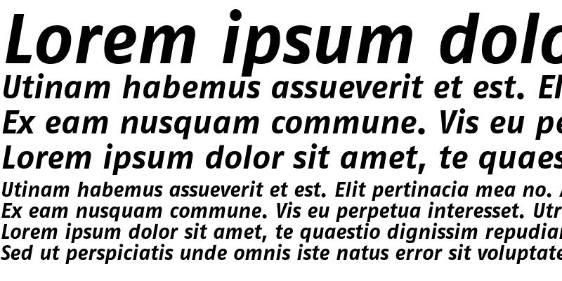 Sample of FagoNoTf Bold Italic