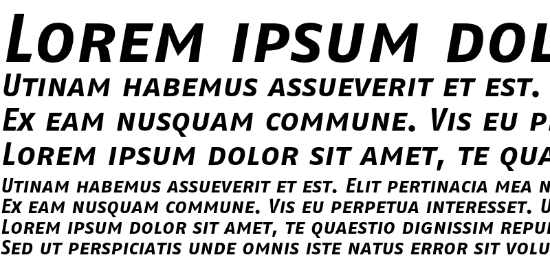 Sample of FagoNoTf Caps Bold Italic