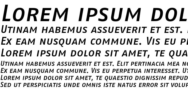 Sample of FagoNoTf MedCaps Italic