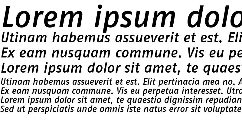 Sample of FagoNoTf Medium Italic