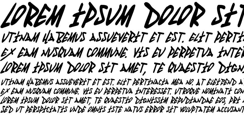 Sample of Fantom Condensed Italic