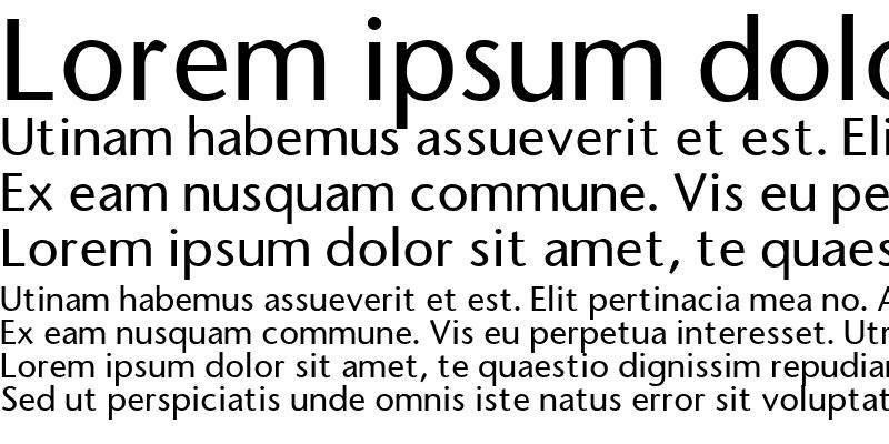 Sample of FasseSans