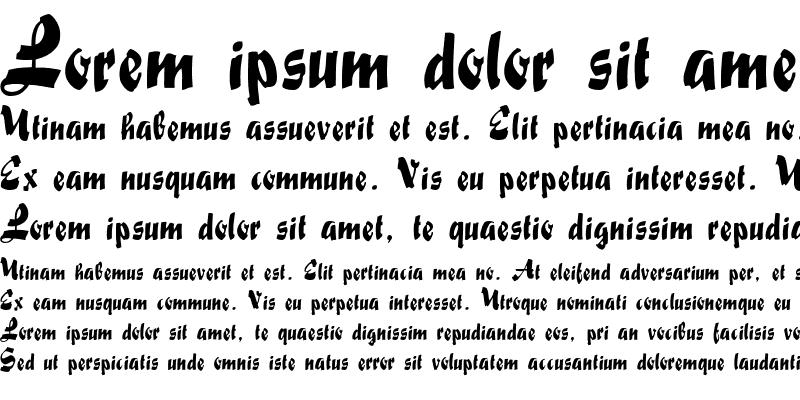 Sample of FatScript Regular