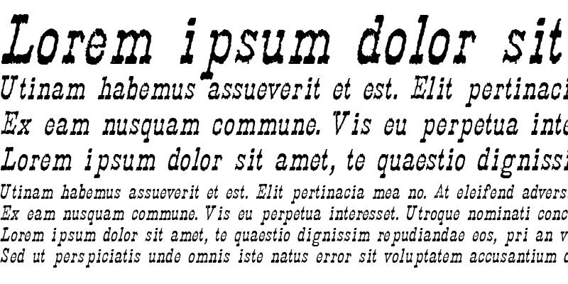 Sample of Faywood Italic WF