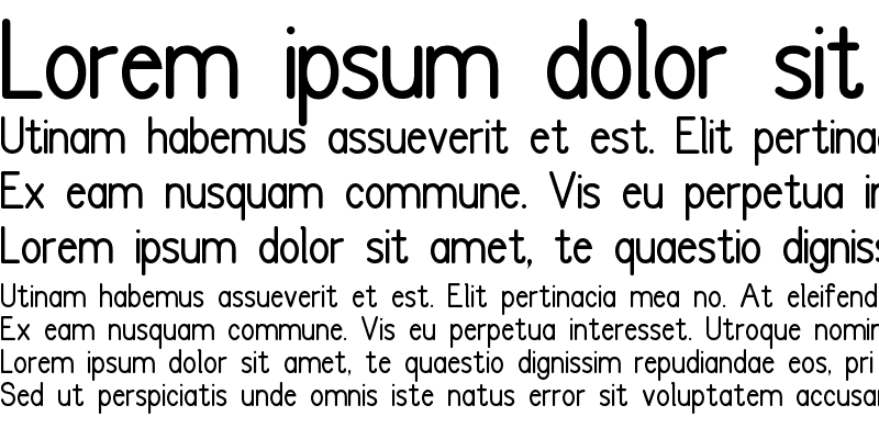 Sample of FC Basic Font