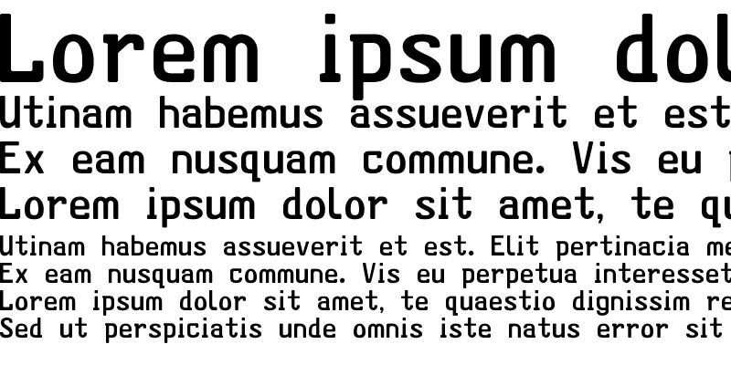 Sample of FE Mittelschrift