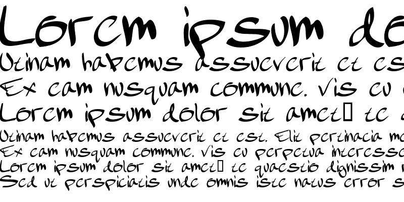 Sample of february handwritten