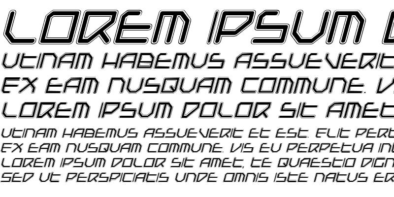 Sample of Federapolis College Italic Italic