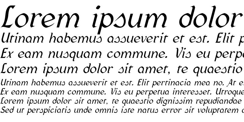 Sample of Federhozen Italic