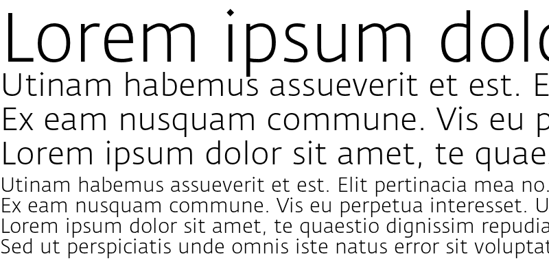 Sample of Fedra Sans Light Regular