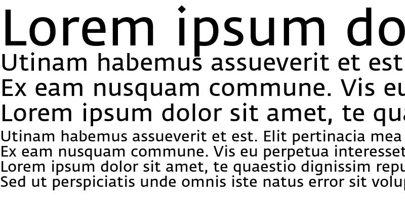 Sample of Fedra Sans Normal