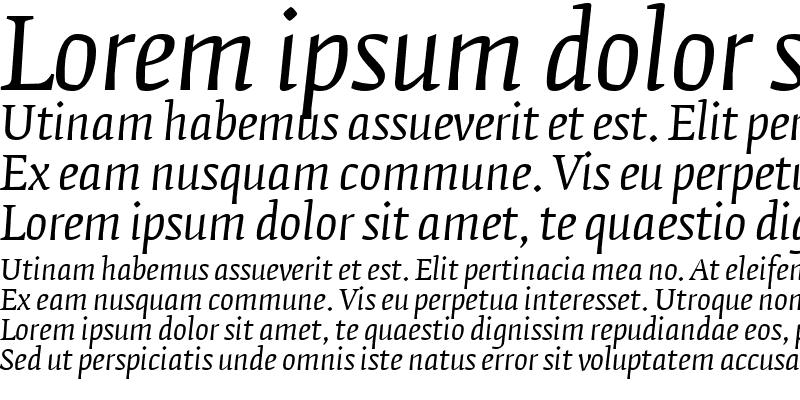 Sample of FedraSerifB Italic