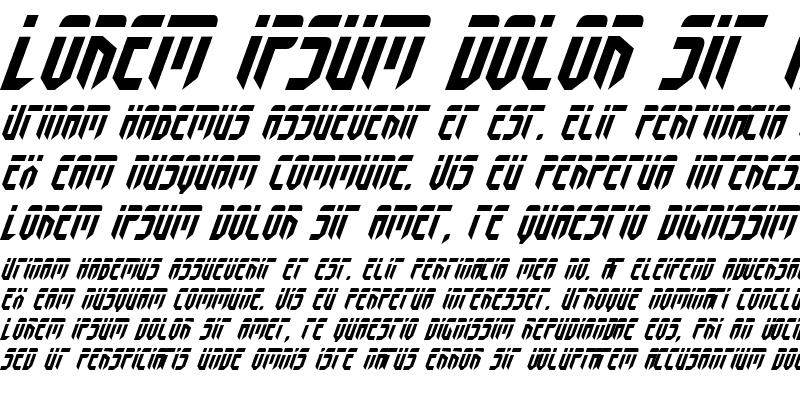 Sample of Fedyral Italic Italic