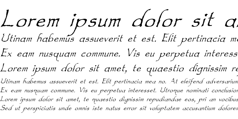 Sample of Feldicouth Italic Bend Regular