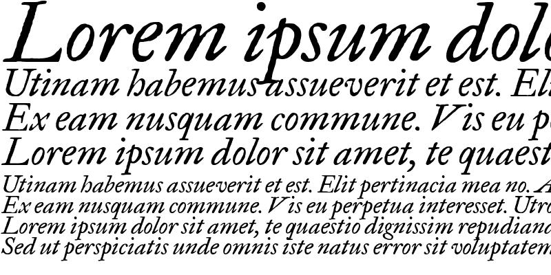 Sample of FELL Great Primer Italic