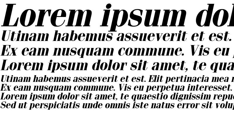 Sample of Fenice Bold Italic