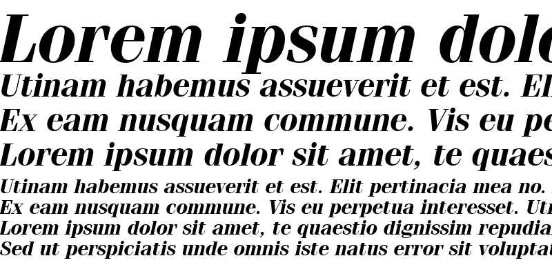 Sample of Fenice BT Bold Italic