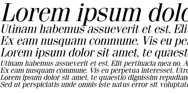 Sample of Fenice Italic
