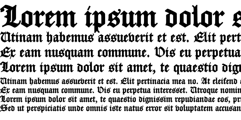 Sample of Fette Caslon Gotisch Black
