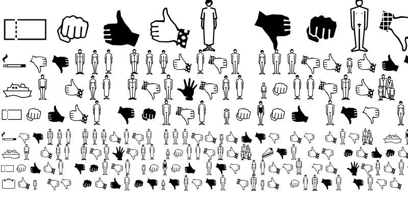 Sample of FFDingbats SymbolsTwo Regular