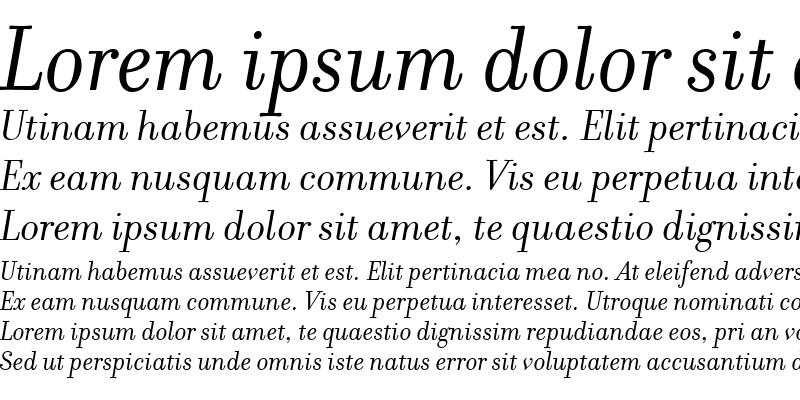 Sample of Filosofia Regular Italic