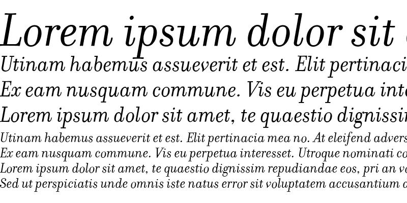 Sample of Filosofia RomanItalic